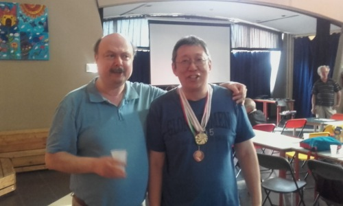 GM Kallai(left) and Michael Yip(right)