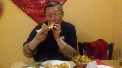 Tournament feast at the Tandori Indian restaurant as a reward for completing threeegames on Saturday